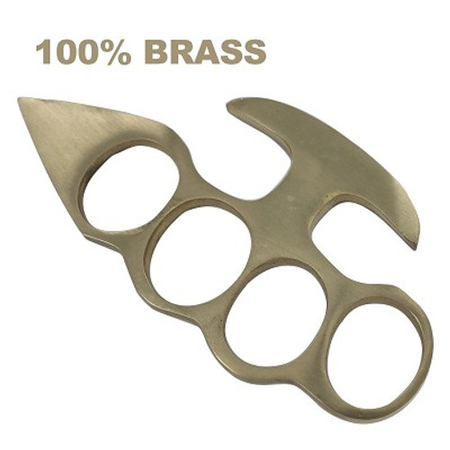 100% Pure Brass Knuckleduster Novelty Paper Weight  Accessory