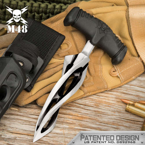 M48 Cyclone Push Dagger And Sheath - 2Cr13 Cast Stainless Steel Blade