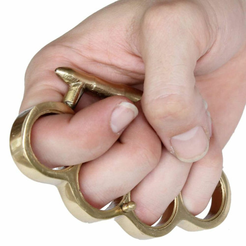 When the Bullet Hits the Bone Brass Knuckle Buckle