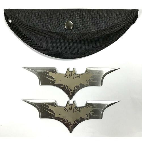 5.5 Inch Two Piece Two-Toned Bat Throwing Blades