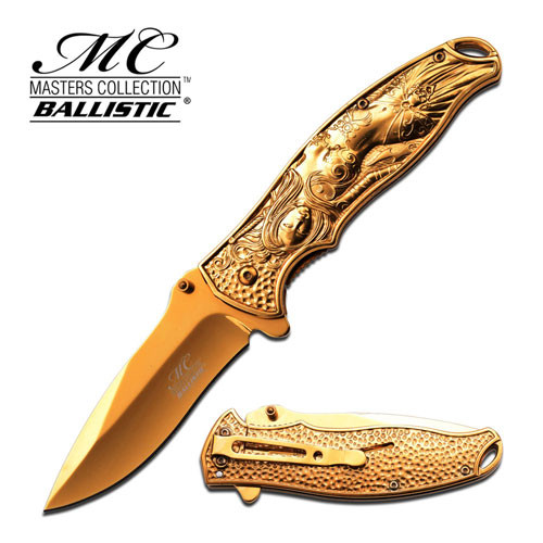 MC MASTERS COLLECTION MC-A019GD SPRING ASSISTED KNIFE