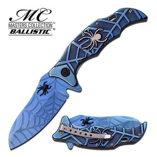SPIDER COLLECTION  SPRING ASSISTED KNIFE BLUE