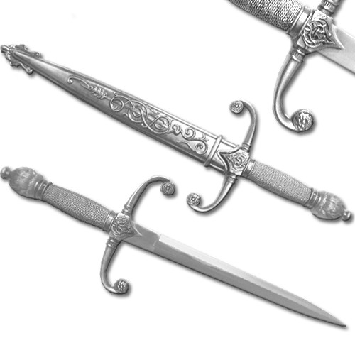 Knights Dagger With Table Stand