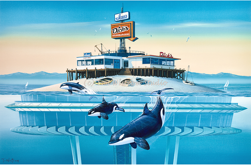 """Surf and Turf"" With Orca Whales"