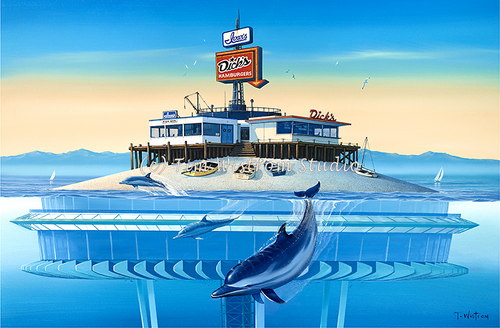 """Surf and Turf"" with Dolphins"