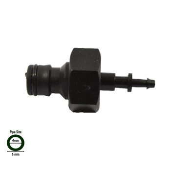"4mm x 1/2"" Micro pipe Garden Hose Connector"