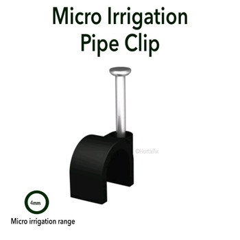 Pipe Clips  for 4/6mm Pipe  Pack 20 c/w nail