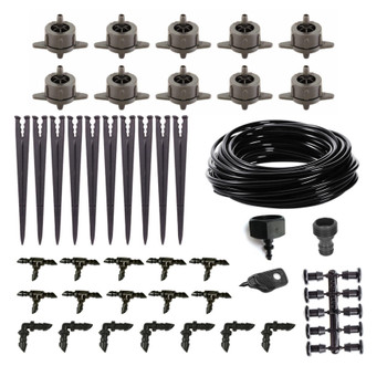 Dripper Kit - 50Pieces + 25M Micro Pipe 4mm