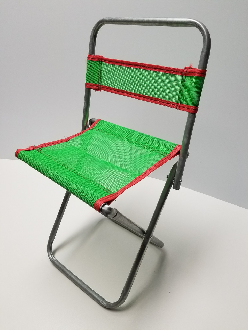 18 Inch Green Portable Mini Folding Camp Chair Canvass Bbq Seat
