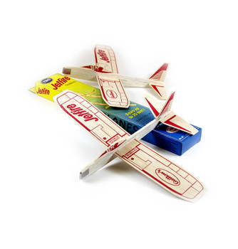 Guillow's Jetfire Twin Pack Balsa Wood Glider Toy Flying Airplanes
