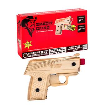 Bandit Guns Semi-Automatic Pistol Pete Rubber Band Gun Craft Kit