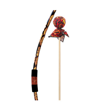 Two Bros Bows Flame Bow with Red Arrows Archery with Trifold Target Toy Set