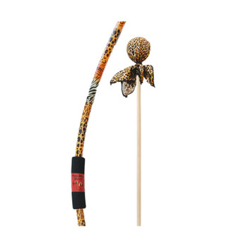 Two Bros Bows Safari Bow with Cheetah and Orange Arrows Archery with Target Toy