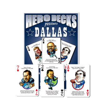 The Original Hero Decks Dallas Football Heroes Playing Cards