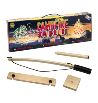 Campfire Bow Drill Kit, Authentic Friction to Flame Tool Set