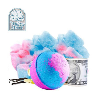 Cotton Candy , 7 oz  Cash Bath Bomb, Real Money Inside! Willow Street