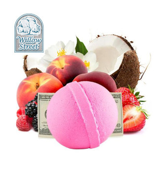 Flirty Little Secret , 7 oz  Cash Bath Bomb, Real Money Inside! Willow Street