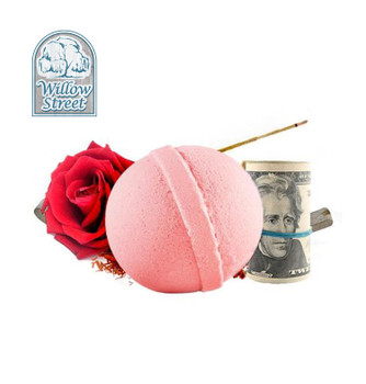 Love Letter , 7 oz  Cash Bath Bomb, Real Money Inside! Willow Street
