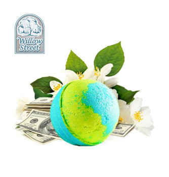 Romance Me , 7 oz  Cash Bath Bomb, Real Money Inside! Willow Street