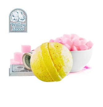 Sweet As Sugar , 7 oz Cash Bath Bomb, Real Money Inside! Willow Street
