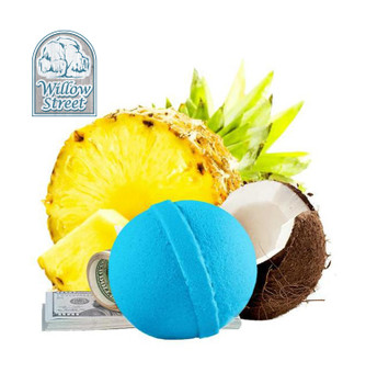 Tiki Party , 7 oz Cash Bath Bomb, Real Money Inside! Willow Street