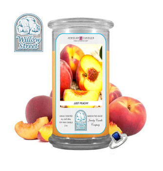 Just Peachy ,18 oz Jewelry Candle Surprize Prize Inside, Willow Street