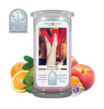 Naughty Girl ,18 oz Jewelry Candle Surprize Prize Inside, Willow Street