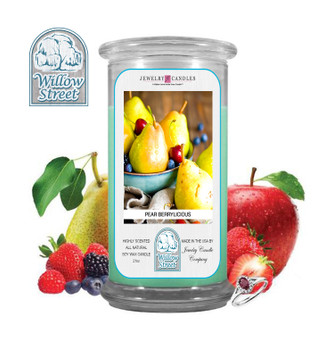Pear Berrylicious ,18 oz Jewelry Candle Surprize Prize Inside, Willow Street