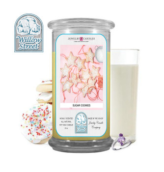Sugar Cookies ,18 oz Jewelry Candle Surprize Prize Inside, Willow Street