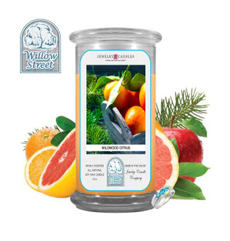 Wildwood Citrus ,18 oz Jewelry Candle Surprize Prize Inside, Willow Street