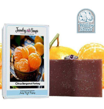 Scented Citrus Bergamot Fantasy ,Jewelry Soap, Willow Street