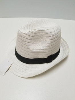 Sun Hat White with Black Strap
