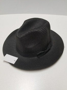 Black Sun Hat with Black Band