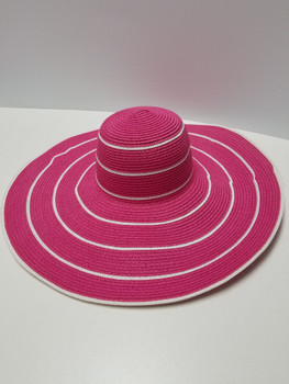 Pink and white striped Sun Hat