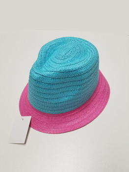 Pink Bottom and Cyan Top Sun Hat