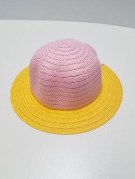 Yellow Bottom and Light Purple Top Sun Hat