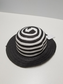 Pink and Black Stipped Sun Hat