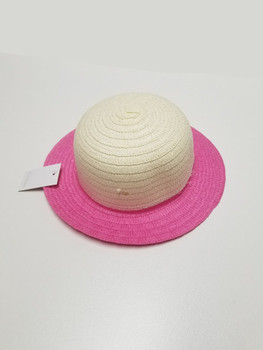 White and Pink Sun Hat