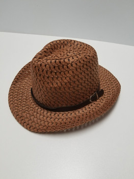 Coffee Sun Hat with brown band