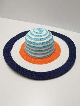 Multi Color Blue, White Orange Sun Hat