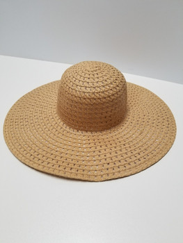 Brown Wide Rim Sun Hat