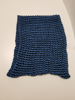 Two Color Blue and Black Arcrylic Cashmere Infinity Scarf