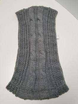 Grey Arcrylic Cashmere Infinity Scarf
