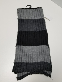 Grey and Black Arcrylic Cashmere Scarf