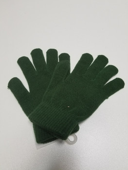 Single Color Green Acrylic Fiber Knitted Glove
