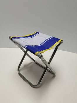 Blue and White Stripped Portable Chair Mini Folding Seat, BBQ Stool