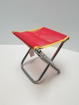 Red Portable Chair Mini Folding Seat, BBQ Stool