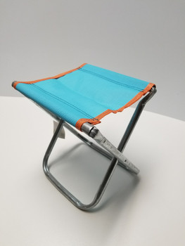 Light Blue Portable Chair Mini Folding Seat, BBQ Stool
