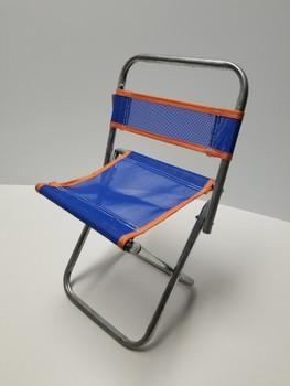 Blue Portable Mini Folding Camp Chair, Canvass BBQ Seat