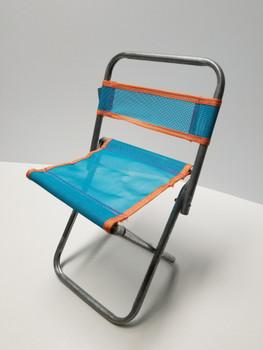 Aqua Portable Mini Folding Camp Chair, Canvass BBQ Seat